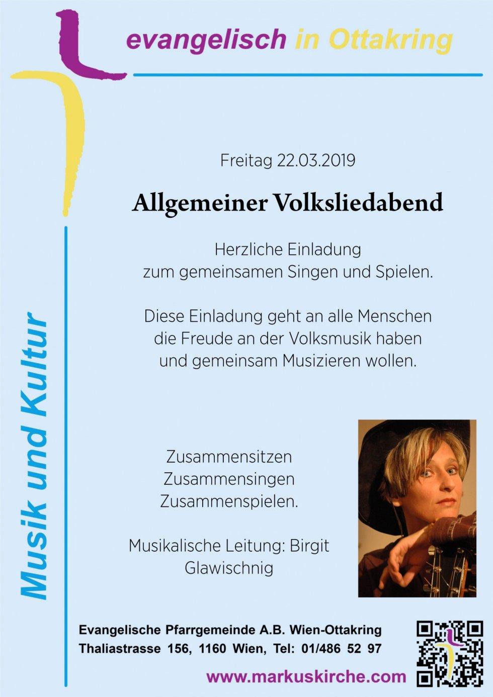 Volksliederabend in der Markuskirche