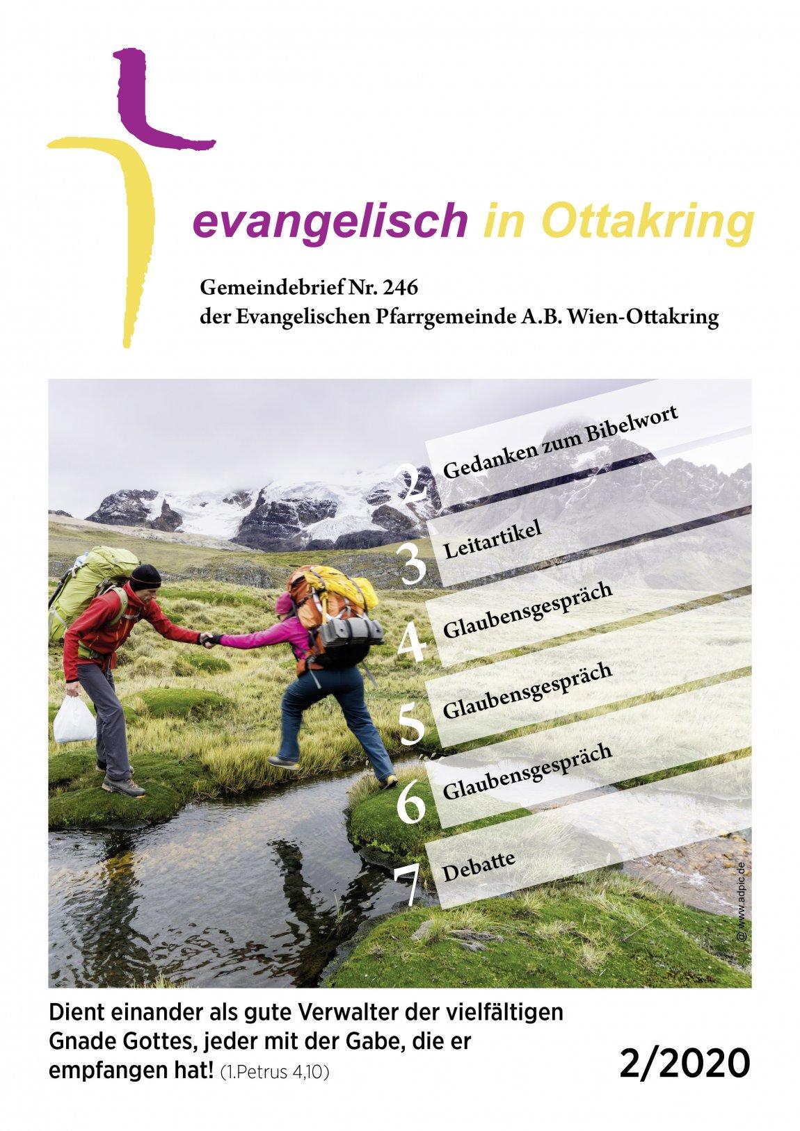 Gemeindebrief Nr. 246 der Evangelischen Pfarrgemeinde Wien-Ottakring