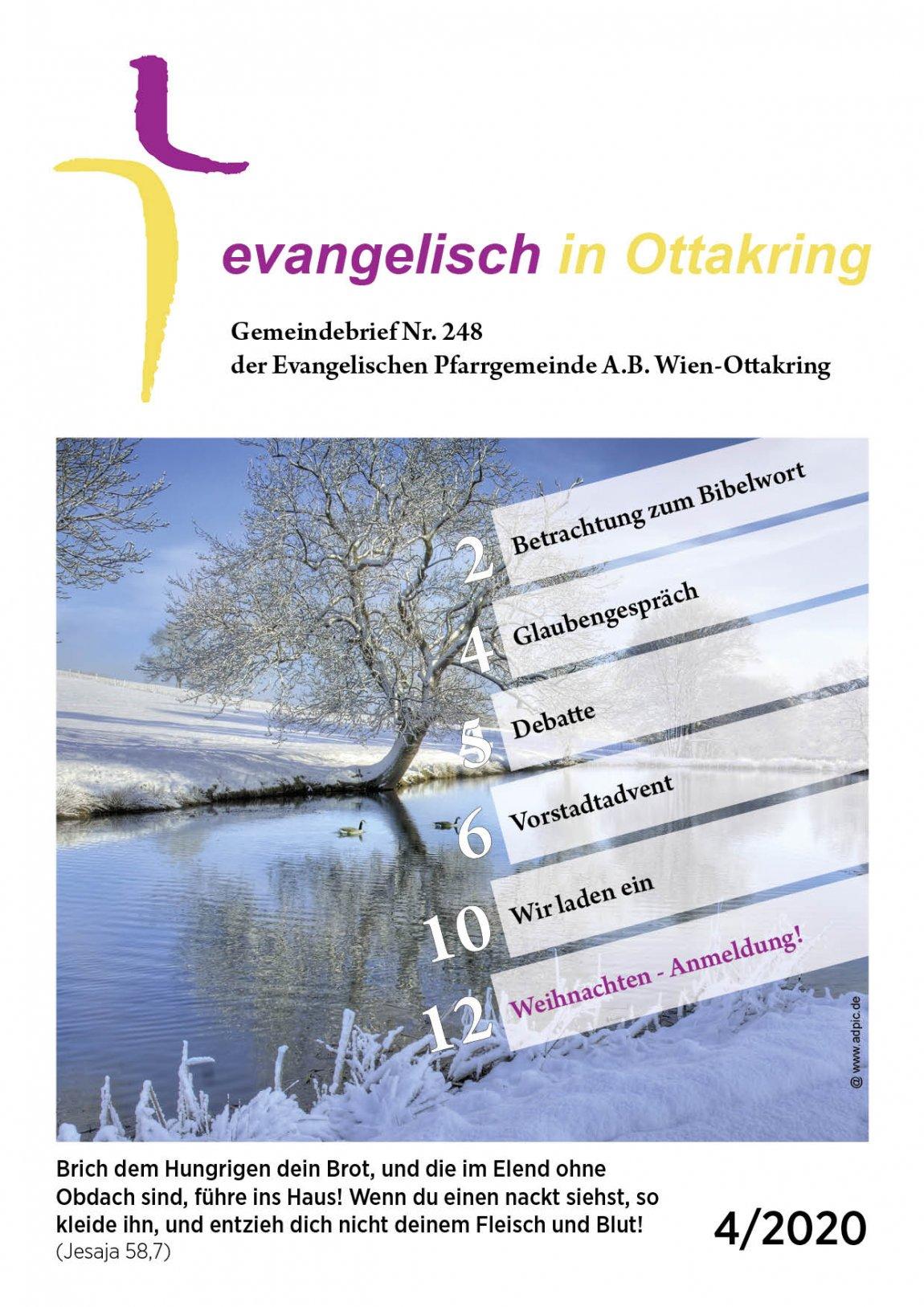 Cover des Gemeindebriefes