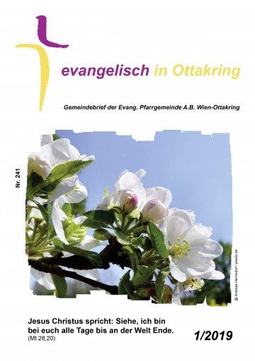 Cover des Gemeindebriefes mit einem blühenden Frühlingsbaum